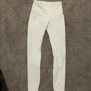 White lulu lemon leggings